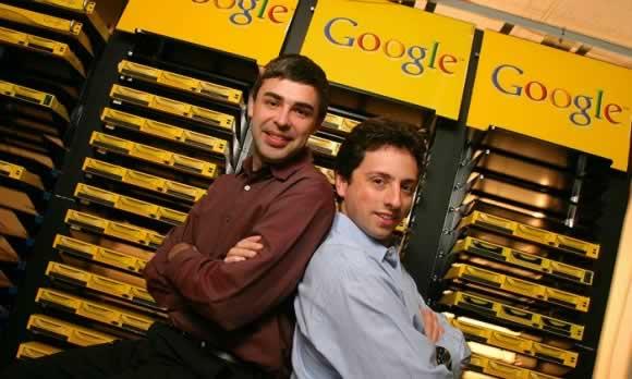 拉里·佩奇和瑟尔盖·布里恩创办了谷歌